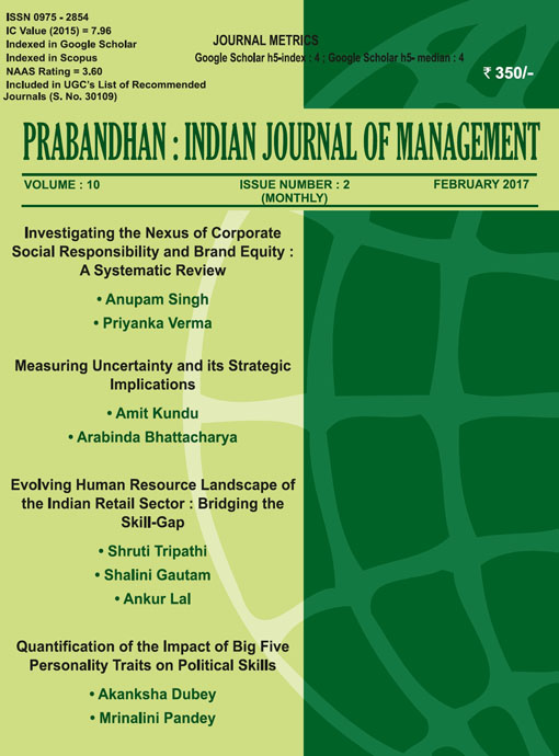 Indian Journal of Management Feb